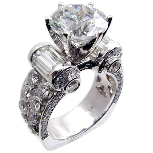 Diammocom BAGRD Invisible Set Diamond Engagement Ring