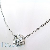 Round Shape Cluster Diamond Necklace